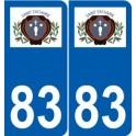 83 Cogolin logo autocollant plaque stickers ville