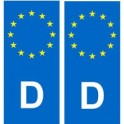 Allemagne Deutschland autocollant plaque