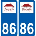 86 Naintré logo sticker plate stickers city