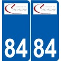 84 Cairanne logo autocollant plaque stickers ville