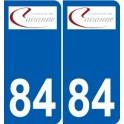 84 Valréas logotipo de la etiqueta engomada de la placa de pegatinas de la ciudad