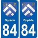 84 Valréas coat of arms sticker plate stickers city