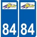 84 Valréas logo autocollant plaque stickers ville