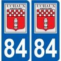 84 Uchaux logo autocollant plaque stickers ville