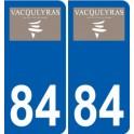 84 Valréas logo sticker plate stickers city