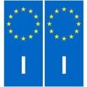 Italie Italia europe autocollant plaque