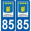 85 Pouzauges logo autocollant plaque stickers ville