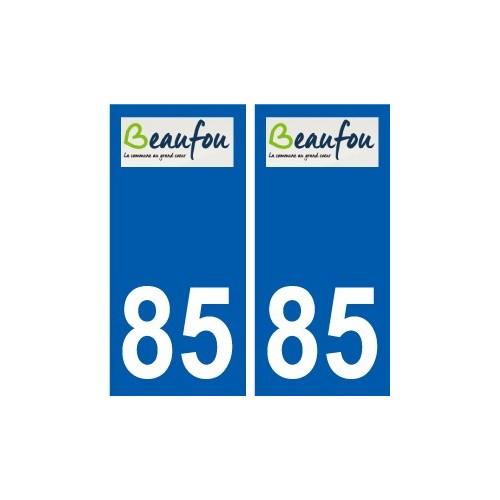 85 Pouzauges logo sticker plate stickers city