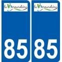 85 La Bernardière logo autocollant plaque stickers ville