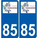 85 Pouzauges logotipo de la etiqueta engomada de la placa de pegatinas de la ciudad