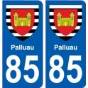 85 Pouzauges coat of arms sticker plate stickers city