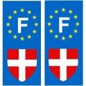Savoie F europe autocollant plaque