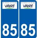 85 Vairé logo autocollant plaque stickers ville