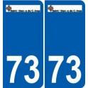 73 Saint-étienne-de-Cuines logo autocollant plaque stickers ville
