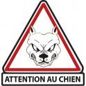 Beware of dog white decal sticker adhesive