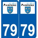 79 Niort logo sticker plate stickers city