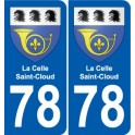 78 Coal coat of arms sticker plate stickers city