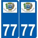 77 Jouarre logo sticker plate stickers city