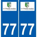 77 Jouarre logo adesivo piastra adesivi città