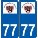 77 Jouarre logo sticker plate stickers city