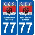 77 Jouarre coat of arms sticker plate stickers city