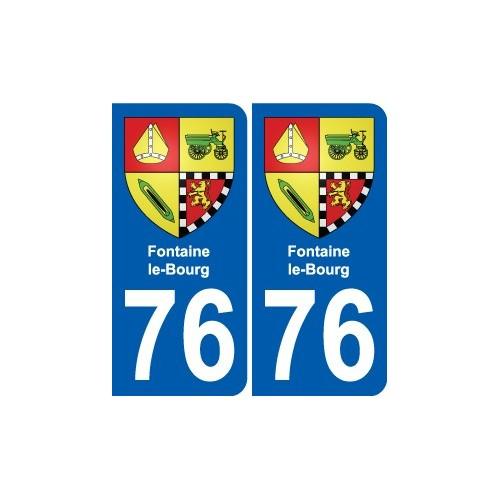 76 Harfleur blason autocollant plaque stickers ville