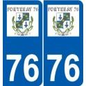 76 Harfleur logo sticker plate stickers city