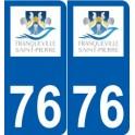 76 Franqueville-Saint-Pierre logo autocollant plaque stickers ville