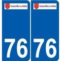 76 Gonneville-la-Mallet logo autocollant plaque stickers ville