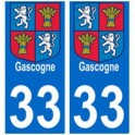 33 gascogne sticker plate