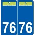 76 Ourville-en-Caux logo autocollant plaque stickers ville