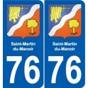 76 Harfleur coat of arms sticker plate stickers city
