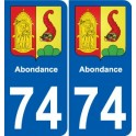 74 Faverges coat of arms sticker plate stickers city