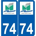 74 Dingy-Saint-Clair logo autocollant plaque stickers ville