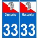 33 brassempouy autocollant plaque