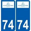 74 Faverges logo autocollant plaque stickers ville