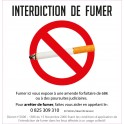 Interdiction de fumer autocollant sticker adhesif