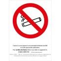 Interdiction de fumer 03 autocollant sticker adhesif