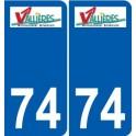 74 Faverges logotipo de la etiqueta engomada de la placa de pegatinas de la ciudad