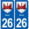 26 Nysons coat of arms sticker plate stickers city