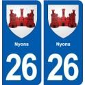 26 Nyons blason autocollant plaque stickers ville