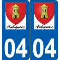 04 Aubignosc logo autocollant plaque stickers ville