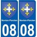 08 Novion-Porcien blason autocollant plaque stickers ville