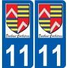 11 Durban-Corbières logo autocollant plaque stickers ville