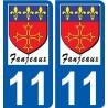 11 Fanjeaux logo autocollant plaque stickers ville