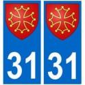 31 Occitan autocollant plaque
