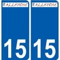 15 Allanche logo autocollant plaque stickers ville