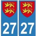 27 Normandie blason sticker autocollant plaque