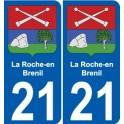 21 Léry blason autocollant plaque stickers ville