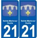 21 Sainte-Marie-sur-Ouche blason autocollant plaque stickers ville